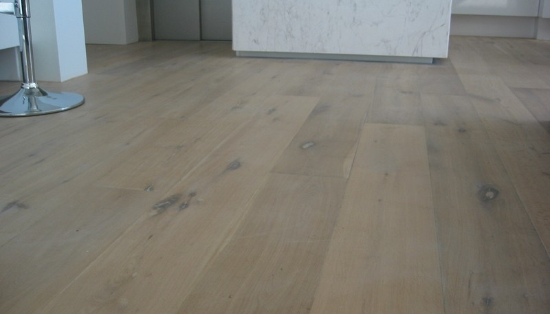 Wide Board Engineered European oak. Loba white oil