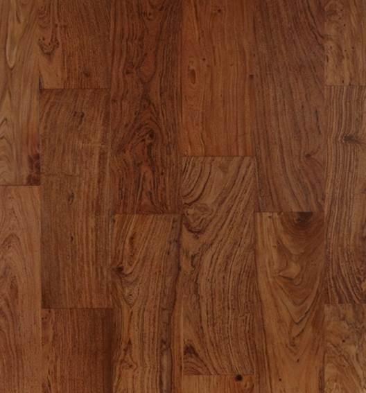 Brown Teak Strip Flooring with Loba Matt varnish